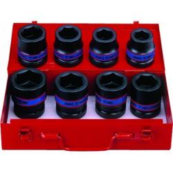 """Caja de vasos de impacto 1"""" métricos - 8 piezas"""
