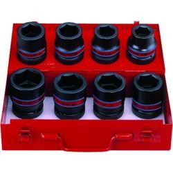 """Caja de vasos de impacto 1"""" en pulgadas - 8 piezas"""