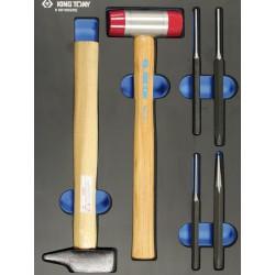 Bandeja EVAWAVE de botadores y martillos - 6 piezas