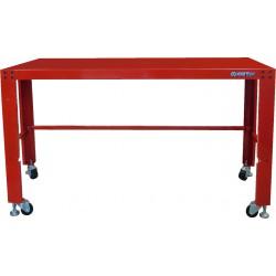 Mesa de taller con ruedas