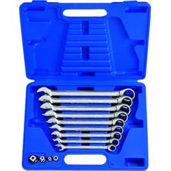 Caja de llaves combinadas con carraca métricas con adaptadores - 13 piezas