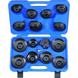Cofre de llaves cazoleta para filtro de aceite - 16 piezas