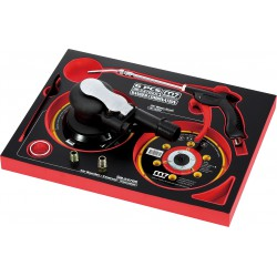 Bandeja de espuma con lijadora aspirante, soporte de disco y sopladora - 7 piezas