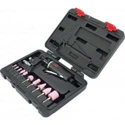 Caja de amoladora recta con accesorios - 15 piezas