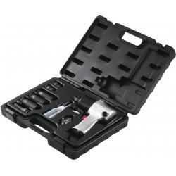"""Caja de llave de impacto 1/2"""" con vasos en métrico y accesorios - 10 piezas"""