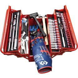 Caja de herramientas completa en pulgadas - 84 piezas