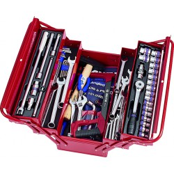 Caja de herramientas completa - 89 piezas
