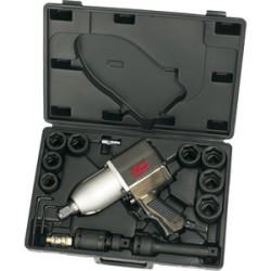 """Caja de llave de impacto 3/4"""" con vasos métricos y accesorios - 15 piezas"""