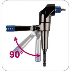 Adaptador angular 1/4 para atornillador