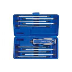 Caja de destornilladores con cuchillas reversibles - 11 piezas