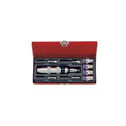 Caja de destornillador de golpe y accesorios - 10 piezas